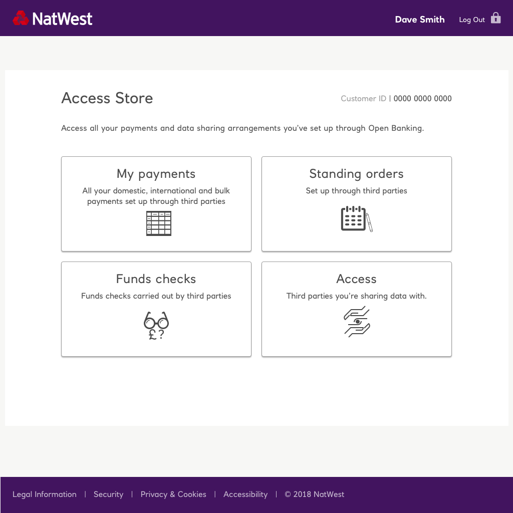 Access store landing page wireframe